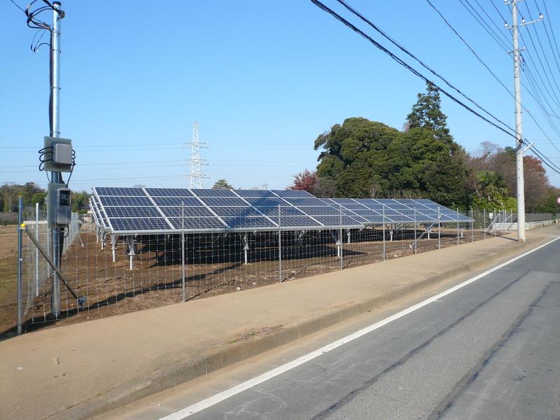 お客様のDIY 太陽光発電所用フェンス2