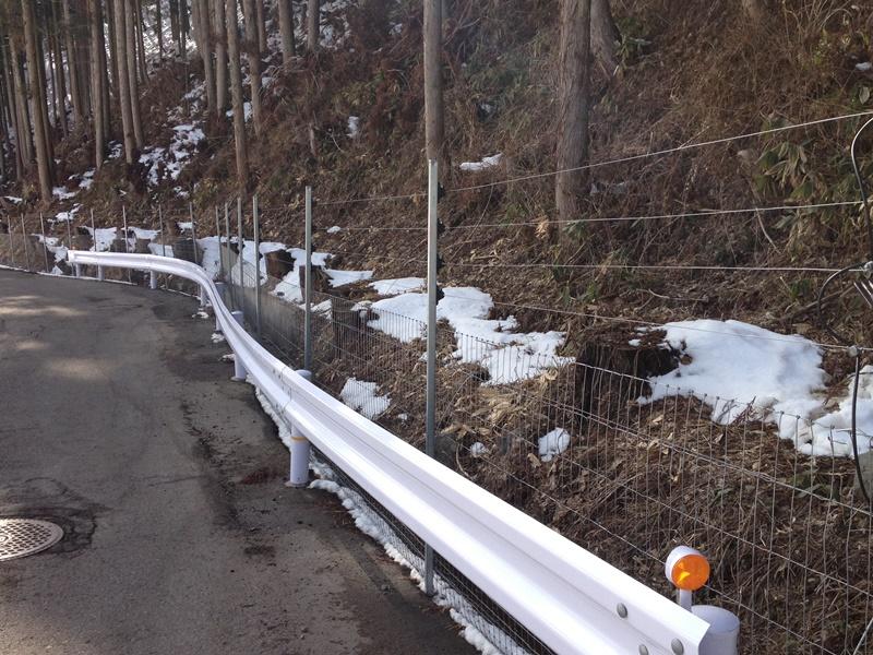 フェンス+電気柵(5段突出しあり)