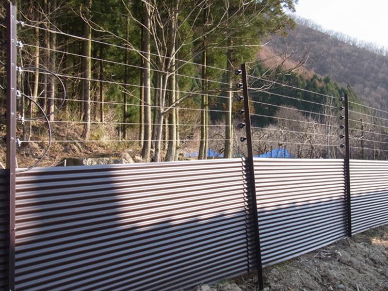 地域で設置するサル用恒久フェンス