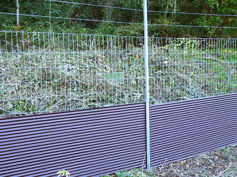 トタン+金網柵