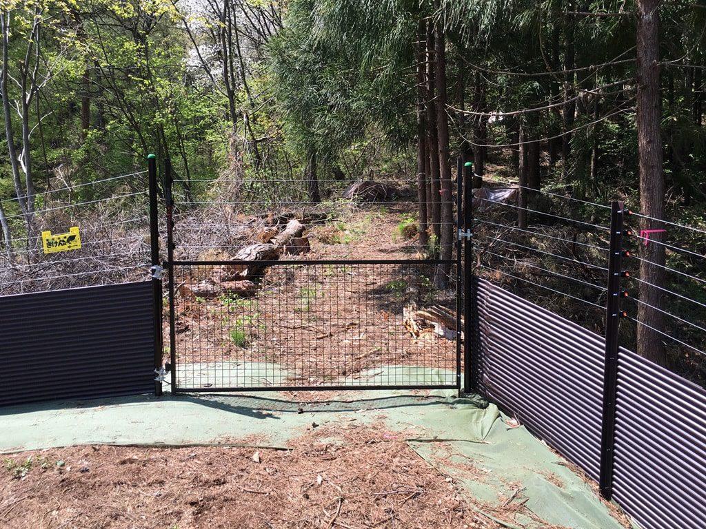広域電気柵やフェンスの門扉はしっかり作る!