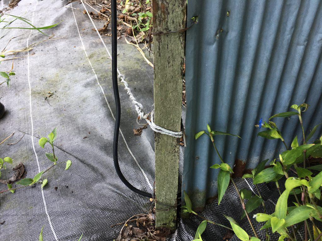 電気柵の漏電