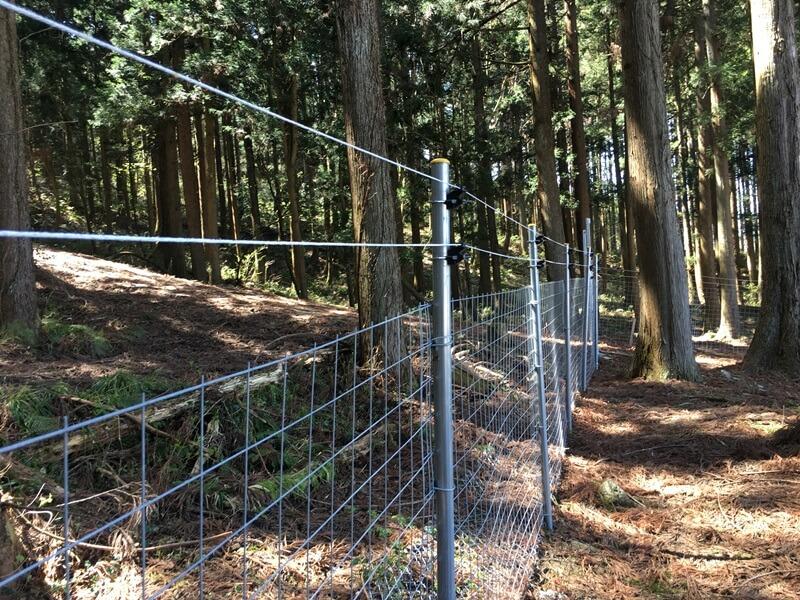 獣害対策のための、間違えないフェンスと電気柵