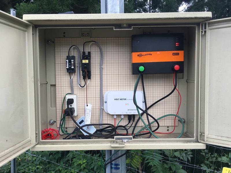 電気柵の電圧を遠隔で監視する!!