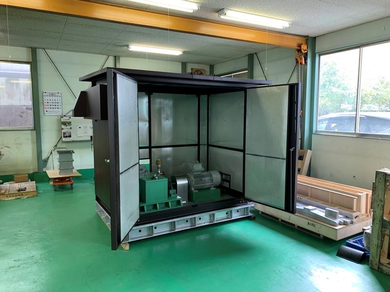 水力発電機防音ボックス