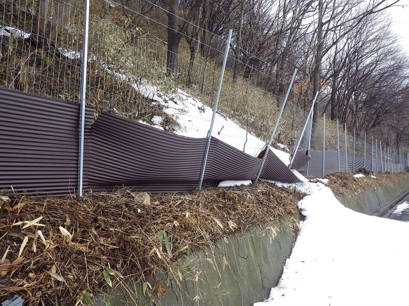 トタン併用フェンス
