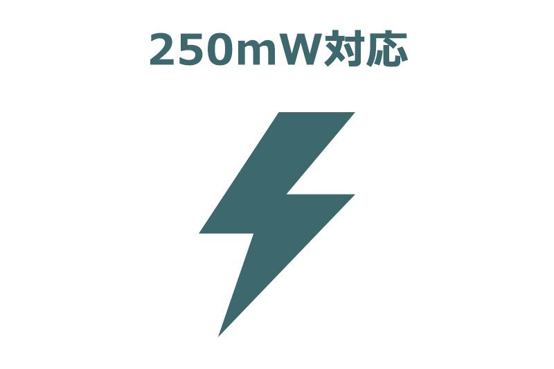 250mW対応